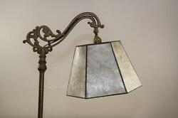 Mission Arts And Crafts Mica Bridge Floor Lamp Shade Parchment
