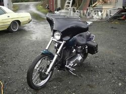 Tsukayu Small Batwing Fairing For Harley H-d Fxdwg Dyna Wide Glide Black