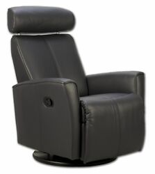 Fjords Atlantis Swing Relaxer Chair - Manual Leather Recliner For Living Room
