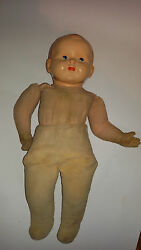 58cm Tall Antique Ultra Rare Old Toy 1900and039s Celluloid Straw Girl Doll Collection