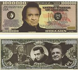 Johnny Cash Man In Black One Million Dollars Bill Note Temp Out Of Stock