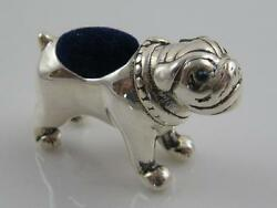NOVELTY STERLING SILVER FRENCH BULLDOG PIN CUSHION