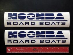 2 Two Moomba Board Boats Marine Decals 12 - New