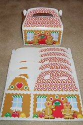 Lot Of 6 Or 12 Gingerbread House Christmas Holiday Treat Cookie Candy Gift Box