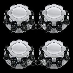 4 Chevy Gmc 8 Lug Chrome Wheel Center Hub Caps Nut Covers For Alloy And Steel Rims