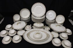 85 Pc Limoges Uc China Set M.f. And Co. Marshall Fieldand039s Chicago Pink Floral 123
