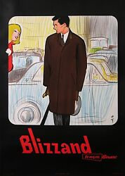 Gruau Blizzand Tergal Boussac Man In Brown Raincoat And The Woman In Red 1961