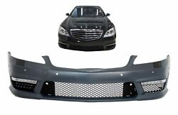Front Bumper for Mercedes Benz W221 S 2005-2012 S63 S65 Look with DRL LED Lights