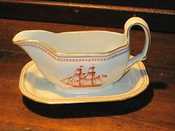 Trade Winds Copeland Spode Gravy Boat With Attached Underplate