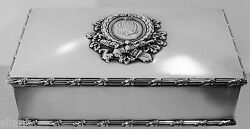 Unusual Handsome Heavy Howard And Co Sterling Silver 9x5x2 Box 36.72 Troy Oz