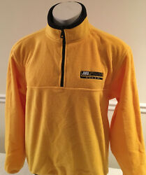 James Madison Dukes Jansport Fleece Women's Jacket Yellow Half-Zip Medium $29.99