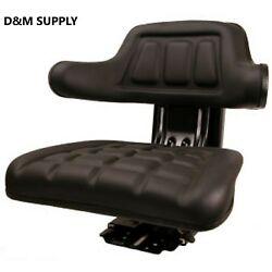 Tractor Seat To Fit Ford Massey New Holland Ih Allis Suspesion Seat Black