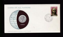 1978 Luxembourg Coin And Postal Stamp Cover Fdc Ex Coins Of All Nations Set B-876