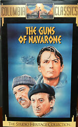 The Guns Of Navarone Vhs 1960 Wwii Thriller W/ Gregory Peck Includes Trailer