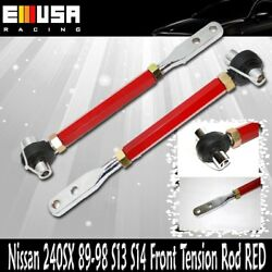 For 240sx 89-94 S13/ 1995-1998 S14 Front Pillow Tension Rod Red