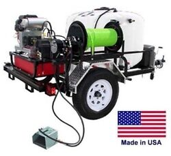 PRESSURE WASHER Jetter - Trailer Mounted - 200 Gallon - 8 GPM - 3500 PSI - 22 Hp