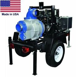 TRASH PUMP - Trailer Mounted - Commercial - 6