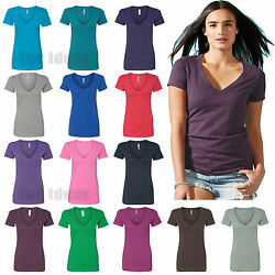 Next Level Womens CVC Deep V neck T Shirt S-2XL - 6640