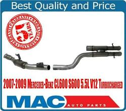 Fits For 07-09 Cl600 S600 Drivers Side Eng. Pipe Main Catalytic Converter 18423