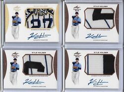 2015 Leaf Trinity Kyle Holder 27x World Champs Patch Gold Prism Auto 1/1 Yankees