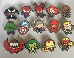 Disney 2015 Marvel Mystery Kawaii Art Collection Complete 14-pin Set N3w Hot
