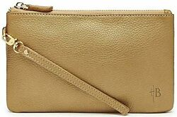 New Mighty Purse Leather wristlet with Power Charger for all phones Bronze