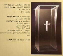 + Acrylic Lectern + Readers Stand + Pulpit 3305 + + + Chalice Co.