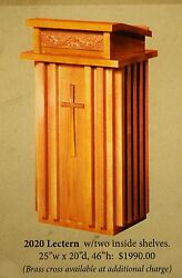 + New Pulpit + Lectern + Readers Stand + 2020 + + + Chalice Co. +