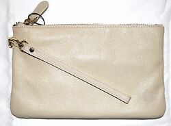 New Mighty Purse Leather wristlet Phone Power Charger for all phones Cream