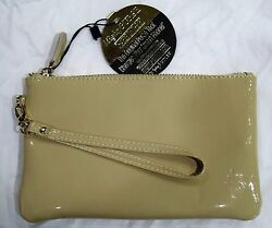 New Mighty Purse Leather wristlet Power Charger for all phones Cafe au lait