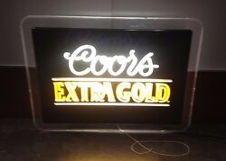 Rare Coors Extra Gold Lighted Sign