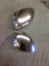 Vintage Boat Side Vents Nickel Plated Marked 933 /932 Pair