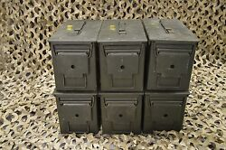 (6 PACK) 50 Cal M2A1 AMMO CAN EXCELLENT CONDITION  * FREE SHIPPING  *