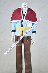 Fairy Tail Cosplay Natsu Dragneel Costume Men Uniform Outfit Halloween Anime New