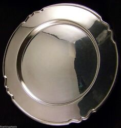 Lg Sheffield Edinburgh Silver Salvar Round Serving Tray-view Our Finethings4sale