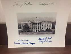 JIMMY CARTER GERALD FORD RONALD REAGAN SIGNED  8X10  CHRISTMAS GIFT MAKE OFFER