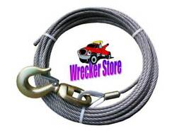 Super Strong 6 X 26 Iwrc 1/2 X 200 Winch Cable And Swivel Hook Wire Rope Wrecker