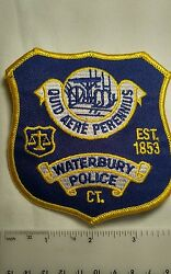 Police Department Patch, Waterbury Police