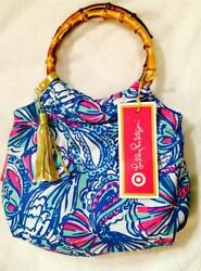 Lilly Pulitzer for Target Girls Bamboo Wristlet Clutch Purse My Fans