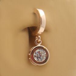 TummyToys 14K Rose Gold Round Cz Belly Button Ring snap in sexy navel jewelry