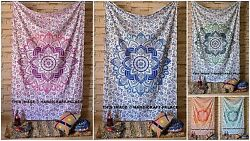 Indian Mandala Tapestry Wall Hanging Bohemian Bedspread Dorm Decor Hippie Throw