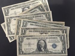 1935 And 1957 One Dollar Bills Clean Circulated Silver Certificate Note Lot Of 100