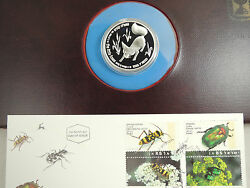 Israel 1995 Fox And Vineyard Philatelic Numismatic Cover W/proof Silver Coin And Fdc