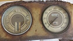 1930s Ford Fuel/oil/amp/temp And Waltham Speedometer