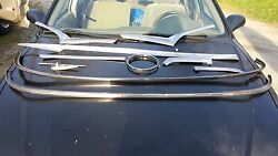 1955 Ford Victoria Stainless Trim Pieces And Driver's Side Front Fender Mirror Mou