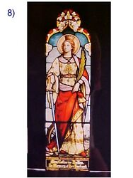 + Fine Older Church Stained Glass Window + Shipping Available +59 3/4 Tall X 17