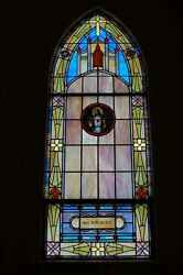 + 70 Yr. Old Church Stained Glass Window + Sacred Heart + Shipping Available +