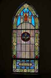 + 70 Yr. Old Church Stained Glass Window + St Peregrine + Shipping Available