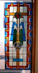 + Church Stained Glass Window + 5 Of 7 + Shipping Available +