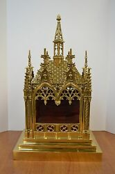 + World Class Large Gothic Reliquary Shrine For Your Relics + Chalice Co. 122